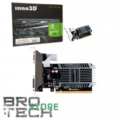 SCHEDA VIDEO INNO3D GEFORCE GT710 1GB SDDR3 VGA HDMI DVI PCI-E LOW-PROF