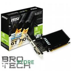 SCHEDA VIDEO MSI GEFORCE GT710 1GB DDR3 VGA HDMI DVI PCI-E LOW-PROFV