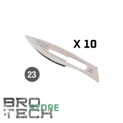 LAME CHIRURGICHE N23 IN ACCIAIO INOX 10PZ PER T3