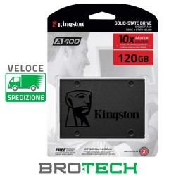 HARD DISK 2,5 STATO SOLIDO SSD 120GB KINGSTON SA400S37/120G SATA 6Gb/s