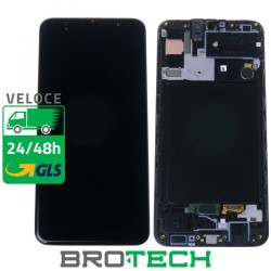 DISPLAY SAMSUNG A30S A307 BLACK SERVICE PACK
