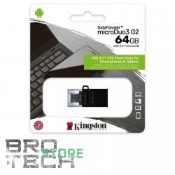 PEN DRIVE USB KINGSTON 3,0 64GB GEN 2 MICRO USB ANDROID/OTG
